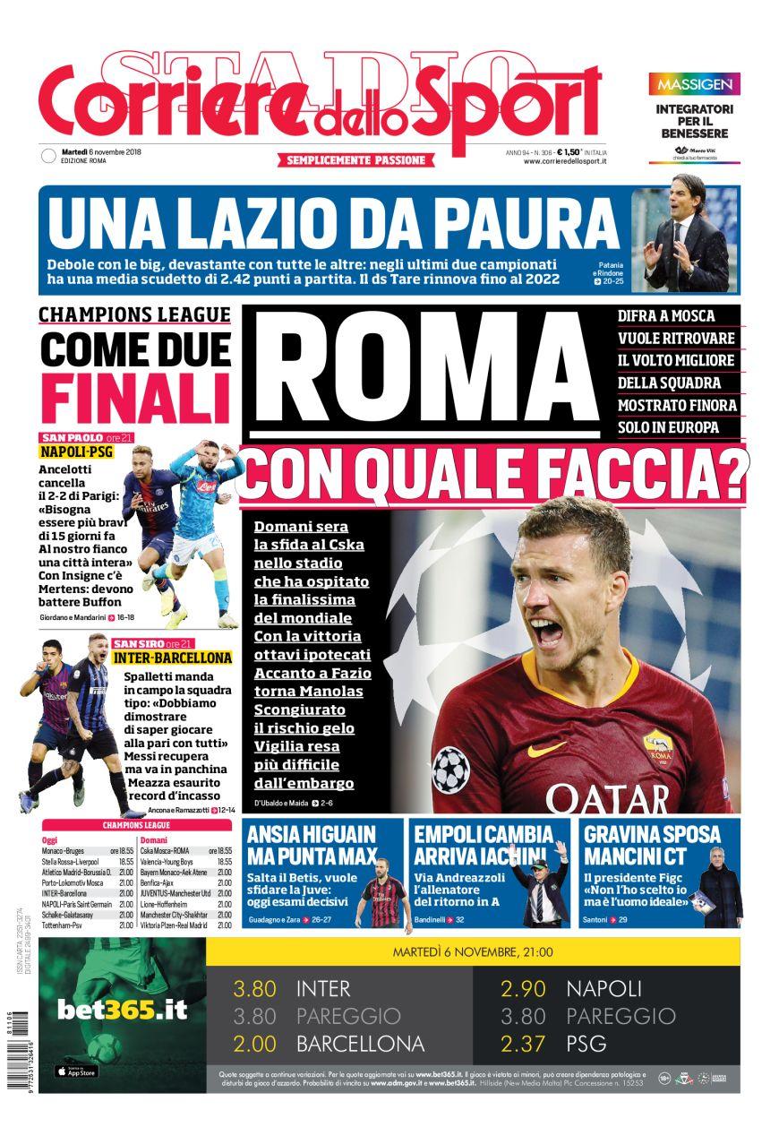 Lazio Corriere dello Sport rassegna stampa